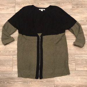 Army Green & Black Sweater